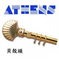 China Dia. 26mm / 35mm Golden Decorative Rods (Shell Finial) on sale