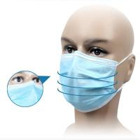 China Healthcare Earloop Disposable Masks With High Elastic Flat Ear Straps factory