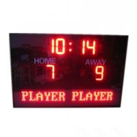 China Electronic Team name In Red  Color LED Football Scoreboard With Waterproof Cabinet factory