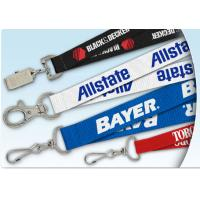 Buy cheap Italy flag Lanyard Keychain Green necklace with metal hook and name tag low MOQ from wholesalers