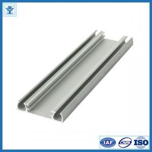 China Solar panel aluminium frame electrophoresis extruded aluminum profiles T4 / T5 / T6 on sale
