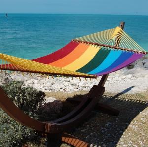 Buy cheap Patio Rainbow Caribbean Style Hammock , Soft Spun Polyester Caribbean Rope Hammock from Wholesalers