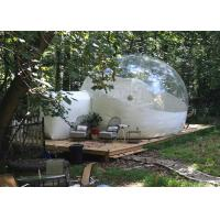 China 4 M Inflatable Lawn Tent Clear Bubble , Inflated Bubble Tent With Frame Tunnel factory