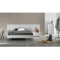 Buy cheap White Gloss Bedroom Furniture Sets With Big Headboard King Size Bed For Hotel Or Villa from Wholesalers