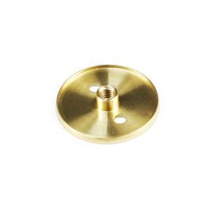 China Sandblasting Brass CNC Female Thread Flange ISO9001 factory