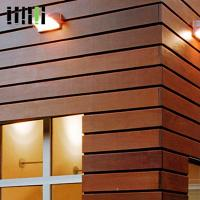 Wood Wall Cladding Panels , Exterior Wooden Wall Tiles 5 Years Warranty