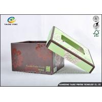 Buy cheap Brown Foldable Cardboard Gift Boxes With Lids Matt Varnish Surface Finishing from Wholesalers