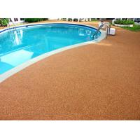 China Shock Proof Pool Rubber Flooring , Abrasive Resistant Swimming Pool Flooring Materials factory