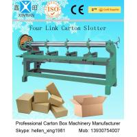 Buy cheap Four Link Corrugated Cardboard Box Making Machine / Corrugated Paperboard Slotter from Wholesalers