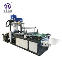 China LDPE Side Sealing DHL Courier Bag Making Machine With Hotmelt Glue Device factory