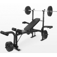 China Weight Lifting Bench With Rack Workout Bench With Barbell Rack Adjustable Weight Bench For Home Gym Weightlifting on sale