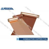 China 600mm Conductive Copper Foil Sheet , Single - Shiny Treated RA Cu Foil factory