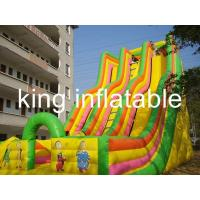 Buy cheap Giant Double Lane Inflatable Dry Slide Colorful Cartoon Printing For Amusement Park from Wholesalers