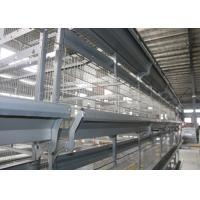 China Large Scale Modern Stackable Chicken Cages / Open House Battery Cage System factory