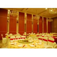 Buy cheap Red Fabric Plywood Single / Double Door Folding Partition Walls  BUNGE Standards from Wholesalers
