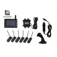 China Strap On 24V Automatic Tire Pressure Monitoring System With Car Alarm Digital 6 Internal Sensors factory