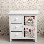 Painting Style Bedroom Corner Cabinet Wooden Drawers Bathroom Furniture