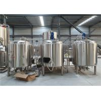 China PLC Control Craft Beer Brewing Systems , 500L Commercial Beer Brewing Equipment factory