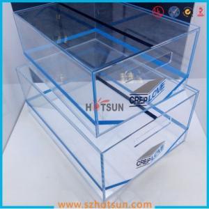 China 2016 acrylic sneaker box, acrylic shoe box, shoe storage box display rack factory