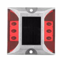 China Outdoor Solar Led Road Studs Reflective Ground Light No UV Rays Quickly Installed factory
