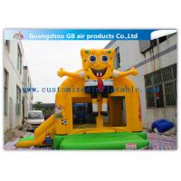China Spongebob Inflatable Bounce House Bouncer For Kids Jumping PVC Tarpaulin factory