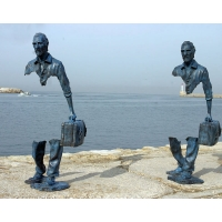Buy cheap Bruno Catalano Bronze Sculpture Abstract Man Statue Modern Art Home Decor from wholesalers
