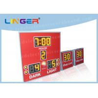 China Amber Color with 8'' 200mm Digits Led Electronic Scoreboard With Countdown Shot Clock factory