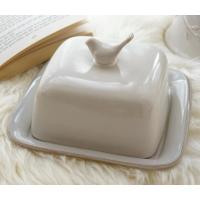China supply ceramic butter dish with cover made in china for export  with good price factory