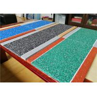China Durable EPDM Jogging Track , 10+3mm Hybrid EPDM Rubber Crumb Athletic Track factory