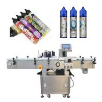 China Wood Packaging Automatic Labeling Machine Electric Driven For Glass Bottle factory