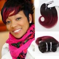 Buy cheap New Style 8 Inches 99J Hair Color 100% Human Hair Snaill Curl Hair Weft from Wholesalers