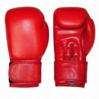 Buy cheap Pro Style Boxing Gloves, Made of Genuine Cow Hide Leather with Machine Latex Mould from Wholesalers