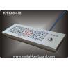 IP65 Industrial Metal Rugged Keyboard with trackball , Desktop computer keyboard