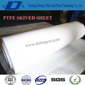 China Grade A pure white PTFE skived sheet/Teflon sheet on sale