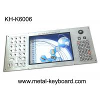 Quality Customizable Industrial Metal Keyboard Built in 30 buttons and 19mm trackball wholesale