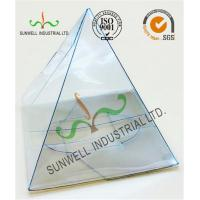 Buy cheap Handmade Custom Gift / Craft Clear Packaging Boxes Triangle Glossy Lamination from Wholesalers