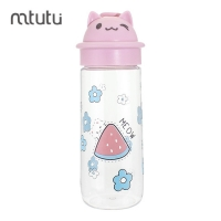 China 500ml Silicon Handle Cartoon Reusable Water Bottle factory