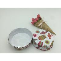 Buy cheap Round Shape Paper Baking Cups PET Coated Film Candy / Flower Pattern Cupcake Liners from Wholesalers