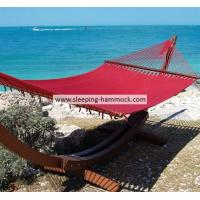 Buy cheap Red 12 Ft Double Rope Hammock Free Standing On Stand For Two People 140 X 216 Cm from Wholesalers