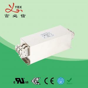 China Yanbixin 50A Terminal Block RFI Power Filter / Mains Rfi Filter Metal Case factory