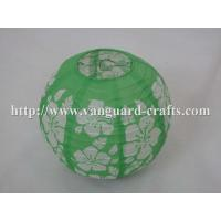 China Spring printed round paper lanterns even ribbing lanterns round lanterns printed lanterns factory