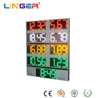China 10 Inch Outside Digital Gas Price Signs Aluminium Frame / Iron Cabinet With Clock factory