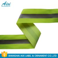 China 100% Polyester Ribbons Reflective Safety Tape Single Sided With Offer Printing factory