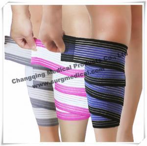China Ankle Compression Medical Bandage / Weight Lifting Stretchable Knee Elastic Wrap Bandage on sale