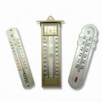 China Indoor Thermometer, Made of Wooden, Plastic or Metal Base, OEM Orders Welcome factory