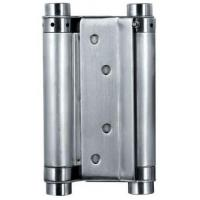 China Satin Stainless Steel Square Door Hinges Double Action Spring Door Hinge factory