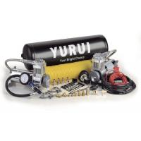 China Dual Onboard Air System 12v Chrome Black Water-Proof Air Tanks Fast Inflation Air Compressor Air Suspension Compressor factory