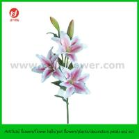 """Buy cheap 39.5"""" Hand Made Silk Flower of Tiger Lily 3 Flowers and 2 Buds from Wholesalers"""