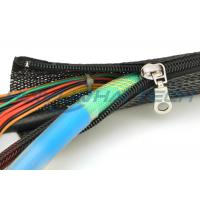 Buy cheap High Flame Retardant Zipper Cable Sleeve Braided Wrap Customized Size Light Weight from Wholesalers