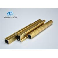 Quality Standard Polishing Golden Extruded Aluminum Framing For Decoration GB5237.1-2008 for sale